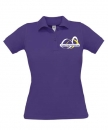 "Damen Polo-Shirt ""Lila"" mit Logo-Stick"